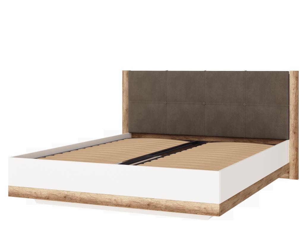 Кровать двойная 1600 с ПМ Николь-Люкс 05