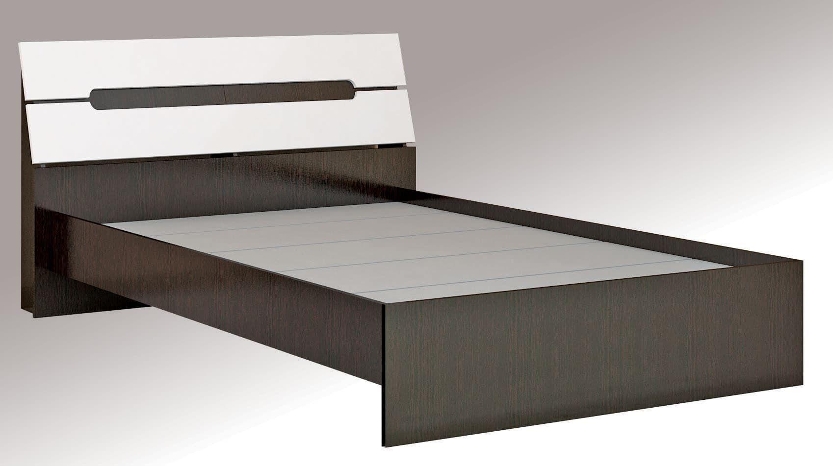 Кровать Гавана 1,4 с основанием ДСП, без матраса Глянец