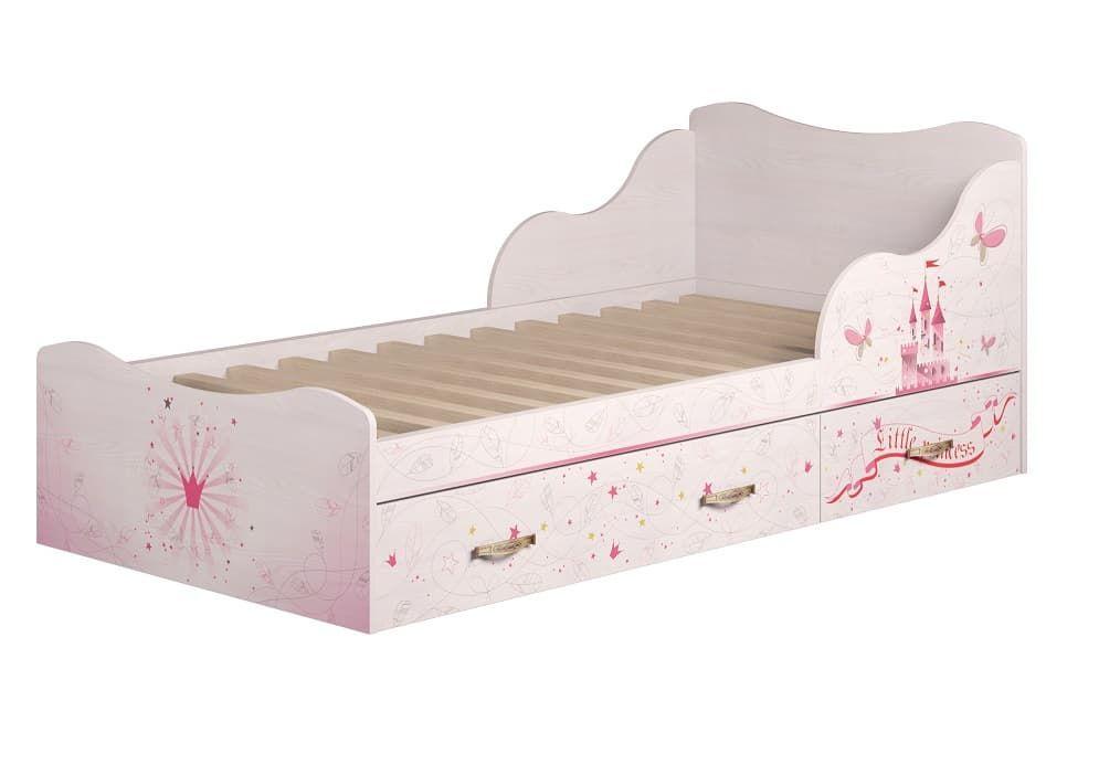 Детская комната Принцесса Комплект 2 - фото 5 Принцесса Кровать на 900 с ящиками (комплект 1)