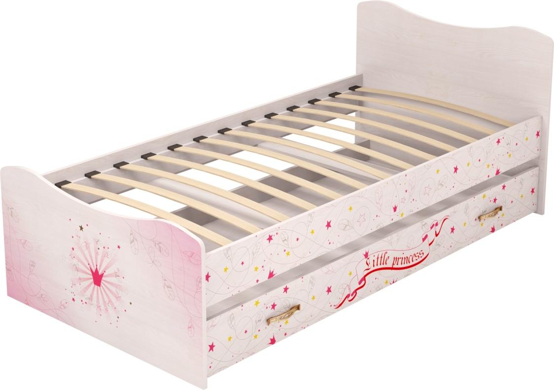 Детская комната Принцесса Комплект 2 - фото 4 Принцесса Кровать с ящиком