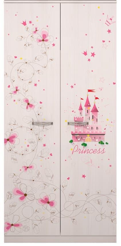 Детская комната Принцесса Комплект 2 - фото 1 Принцесса Шкаф для одежды
