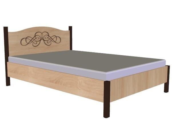 Спальня ADELE (комплект 4) - фото Кровать 140*200 без основания, без матраса ADELE 3