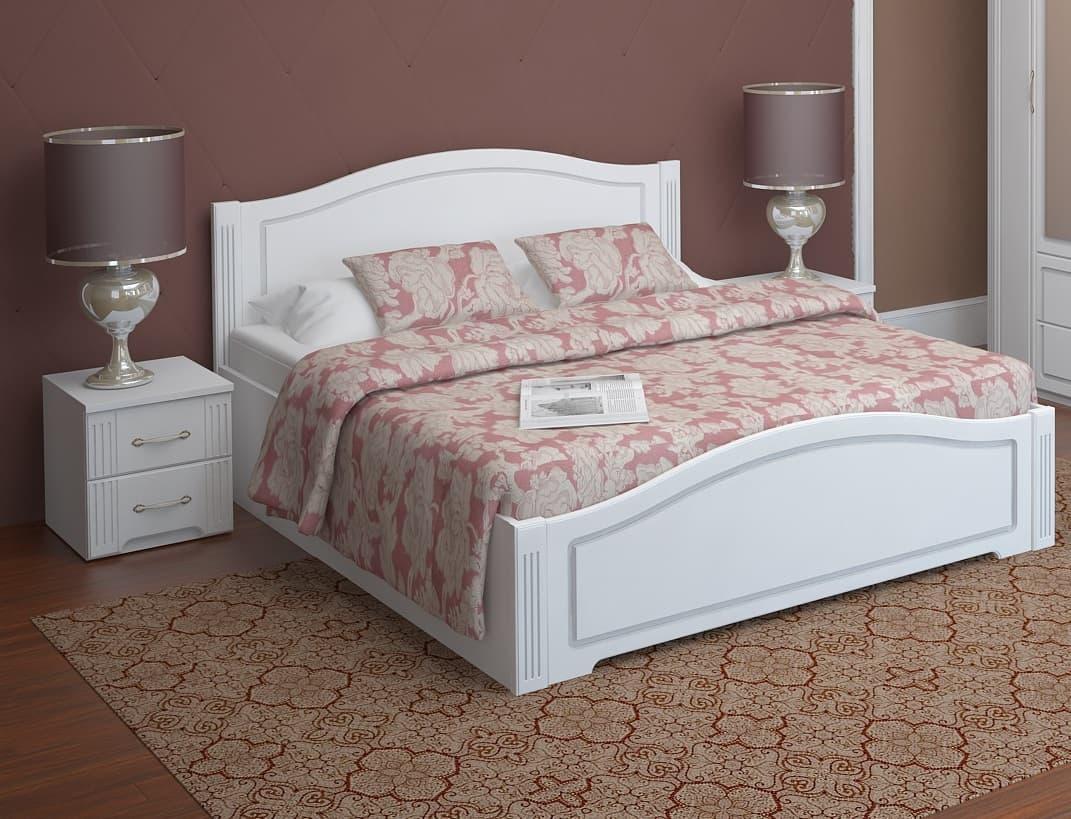 """Спальня Виктория (комплект 2) """"Ижмебель"""" - фото 05 Виктория кровать 160*200 см с латами, без матраса"""