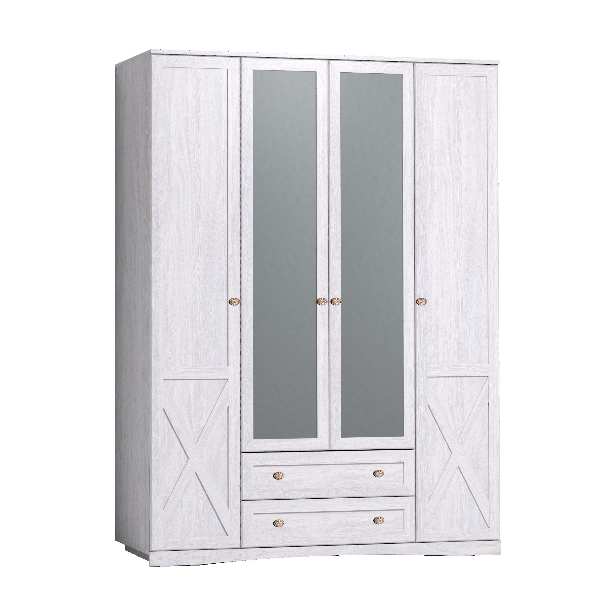 Шкаф для одежды и белья, с цоколем ADELE 9, Ясень анкор светлый