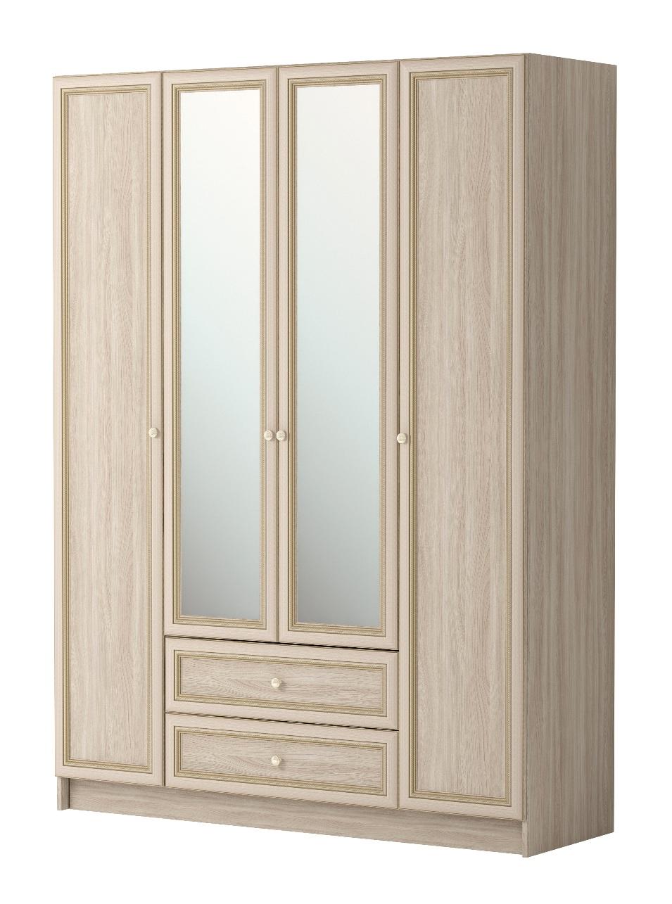 Шкаф комбинированный Брайтон 25 4-х дверный С ЗЕРКАЛОМ