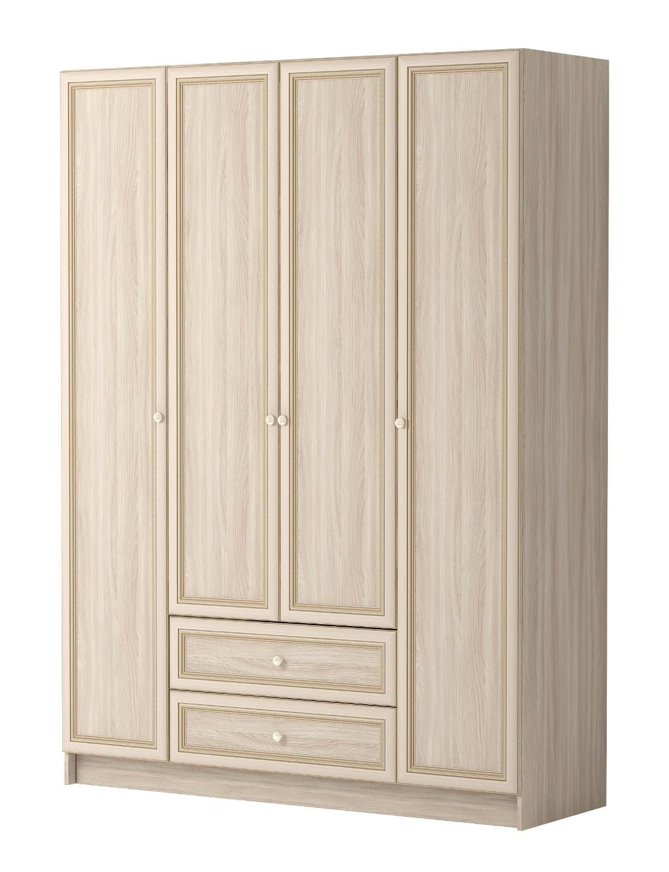 Шкаф комбинированный Брайтон 25 4-х дверный БЕЗ ЗЕРКАЛА