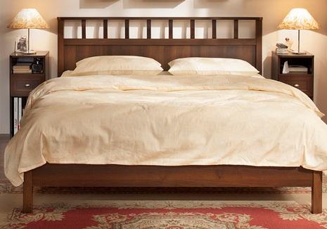 Спальня SHERLOCK Шерлок Комплект 1 - фото Sherlock 49 Кровать-Люкс 120, без основания, без матраса
