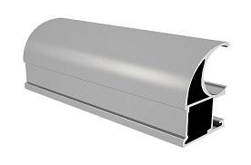 Радиусный шкаф-купе М. лайн-5 - фото Матовое серебро
