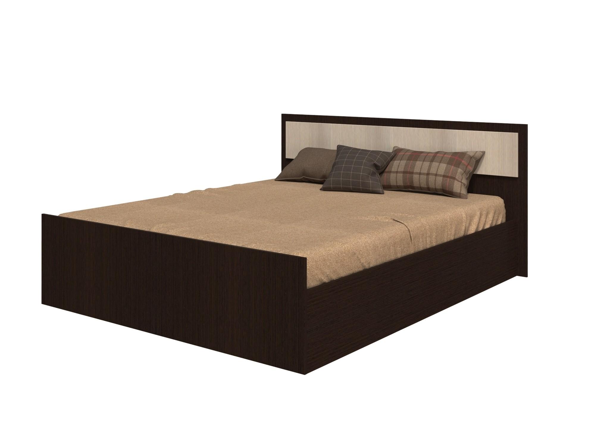 Кровать на 1600 Фиеста LIGHT с настилом ЛДСП, без матраса, венге