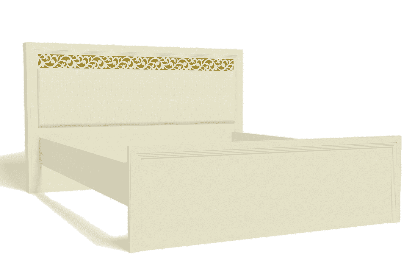Спальня Ливадия Комплект 3 - фото Кровать 140*200 см без ортопеда, без матраса Ливадия Л8а