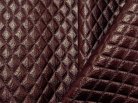 Угловой шкаф-купе Радиус - фото Монро коричневый (искусственная кожа)