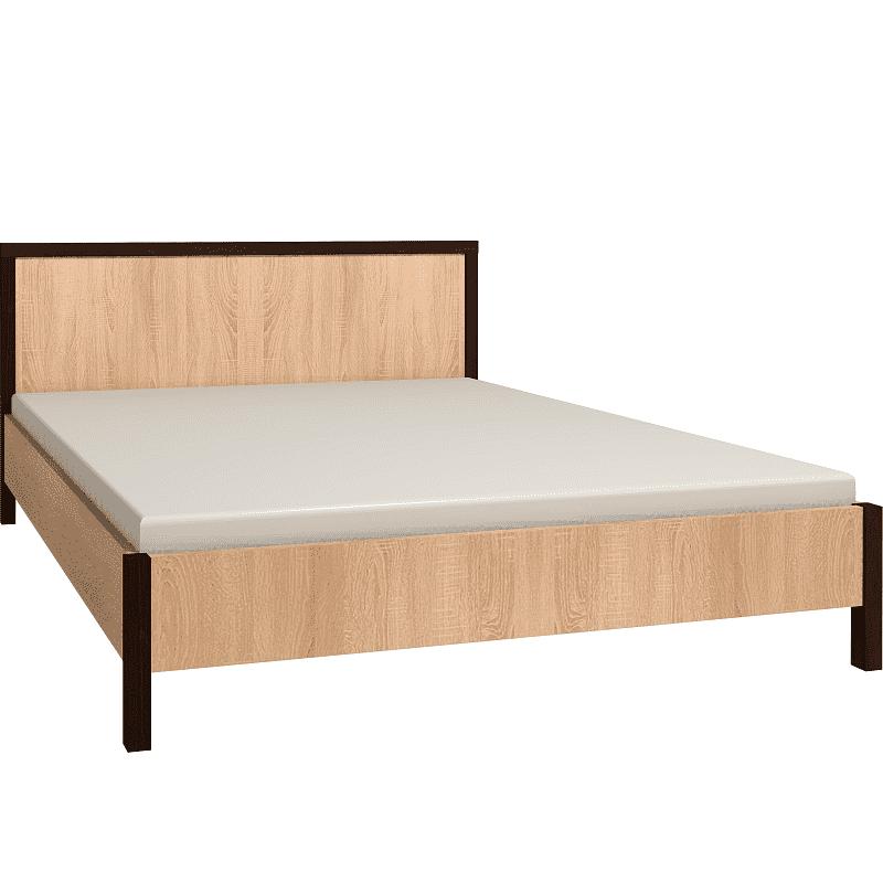 Спальня Баухаус BAUHAUS (комплект 1) - фото Кровать 140*200 (каркас) Bauhaus 3