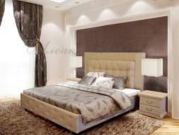 Кровать с мягким изголовьем Амфирея