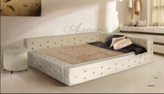 Кровать с мягким изголовьем Мирабелла