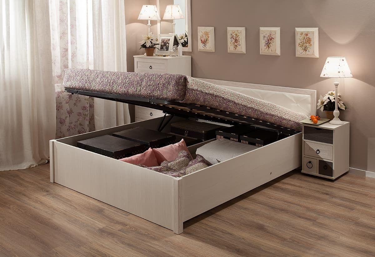 Спальня Марсель (комплект 1) - фото Кровать с подъемным механизмом (140) Марсель 33.2