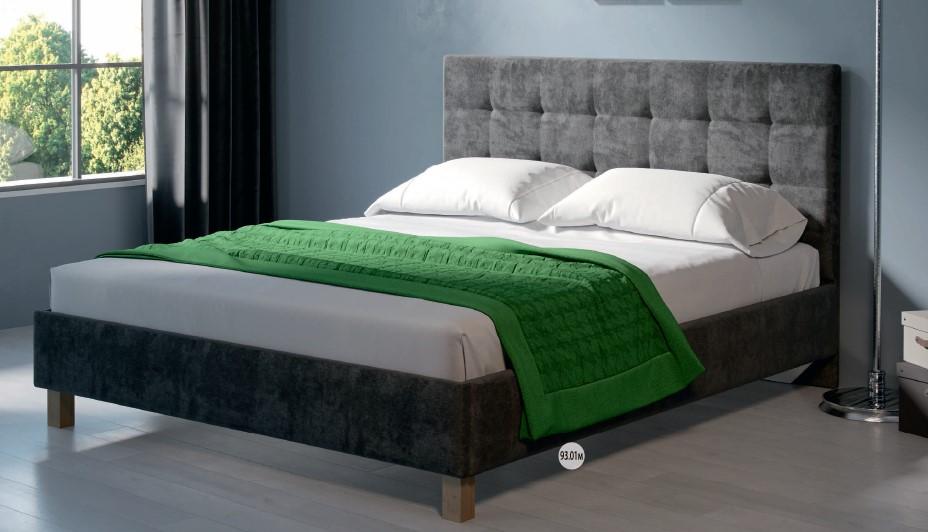 Спальня МК52 (комплект 3) - фото МК 52 модуль 93.01М (кровать графит)