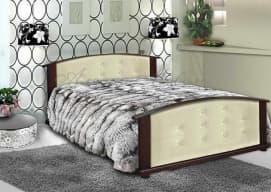 Кровать Милана с кожей