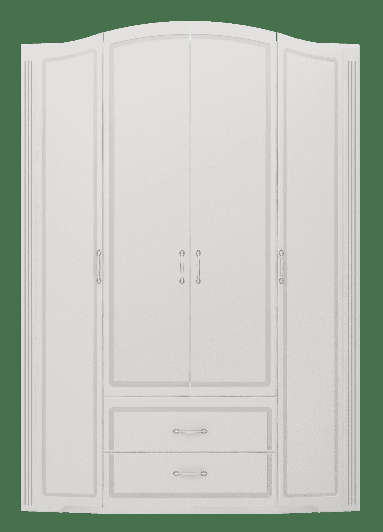 Шкаф для одежды 4-х дверный с ящиками (без зеркал) Виктория 02