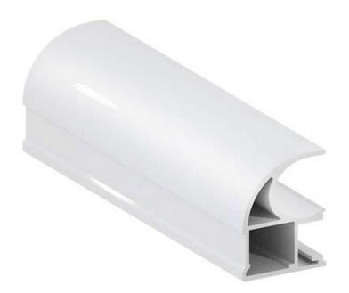 Угловой шкаф-купе Радиус - фото Белый 1 дверь