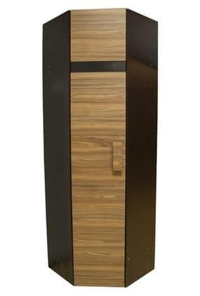 Спальня Hyper (комплект 1) - фото Шкаф угловой 2 Фасад Палисандр Hyper (левый)