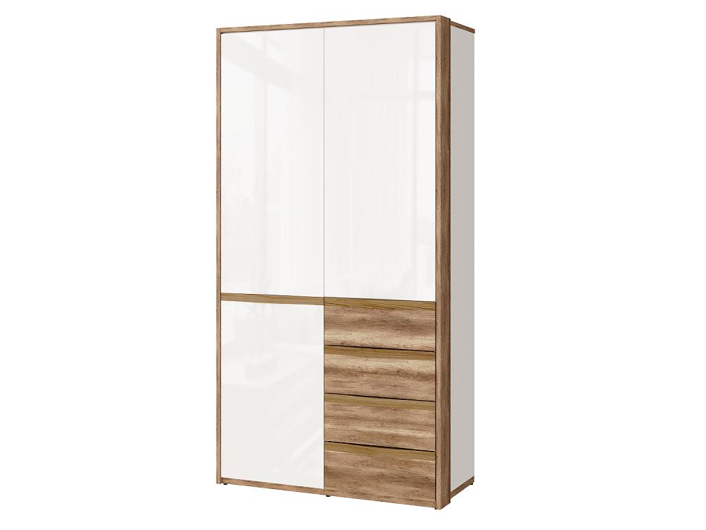 Шкаф для одежды с ящиками Николь-Люкс 07, левый