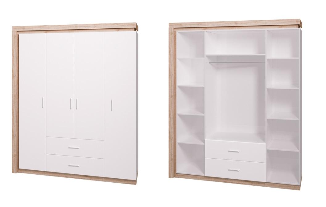 Шкаф 4-х дверный Люмен 16