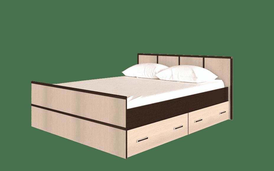 Спальня Сакура (комплект 3) - фото Кровать на 140, с настилом ДСП, без матраса Сакура