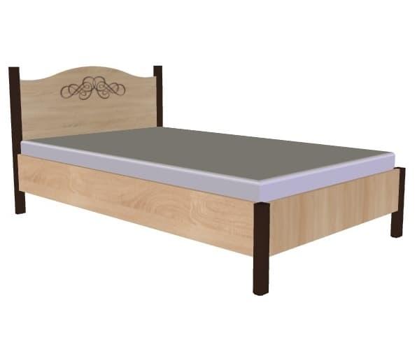Спальня ADELE (комплект 4) - фото Кровать 120*200 без основания, без матраса ADELE 4