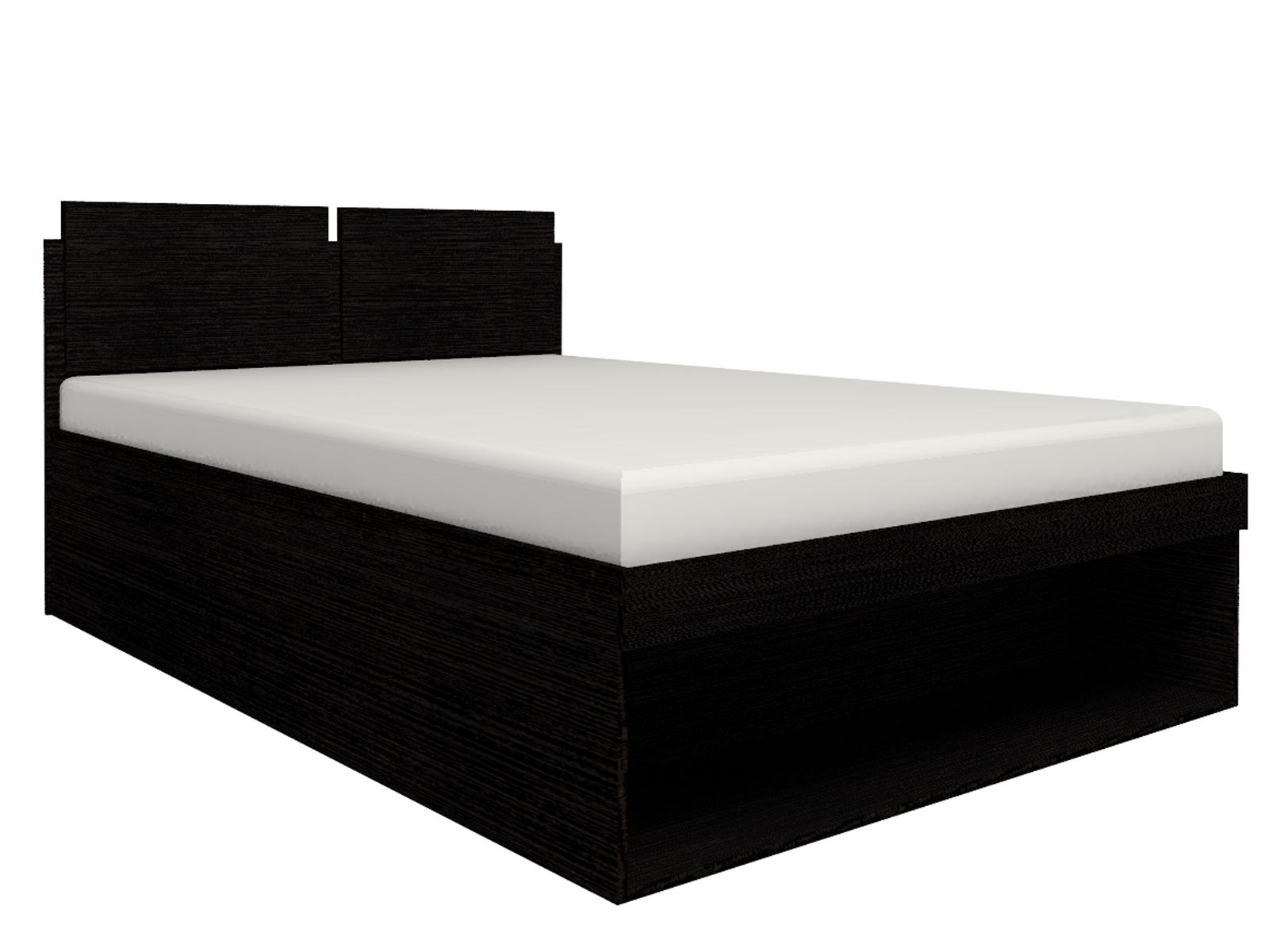 Спальня Hyper (комплект 2) - фото Кровать 3 Hyper 140*200 с подъемным механизмом (Венге монохром)