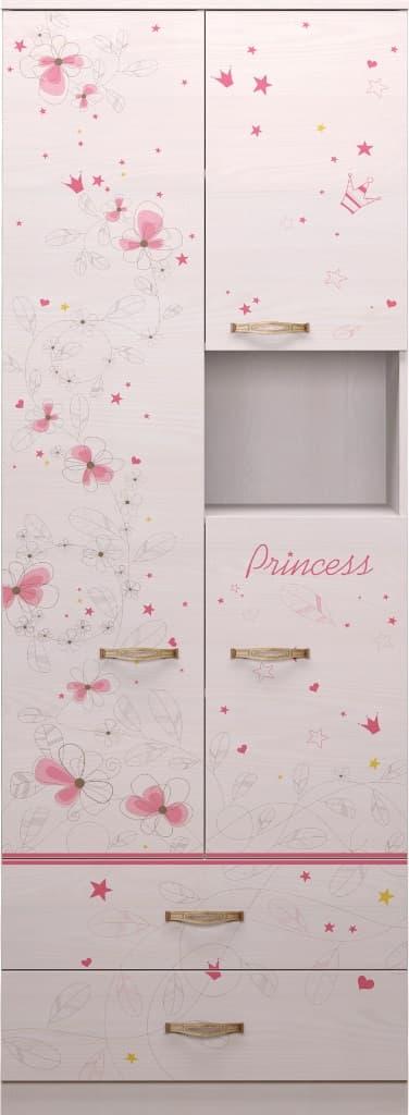 Детская комната Принцесса Комплект 2 - фото 14 Принцесса Шкаф комбинированный
