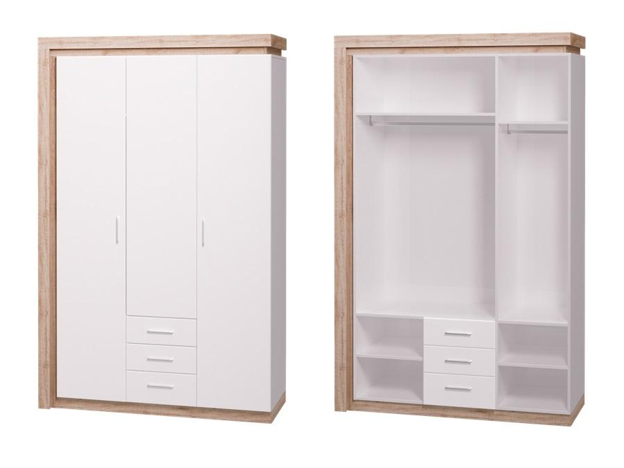 Шкаф 3-х дверный, 3 ящика Люмен 15