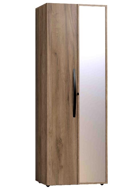 Шкаф для одежды КОРПУС + ФАСАД Зеркало контур + ФАСАД Стандарт Nature 54