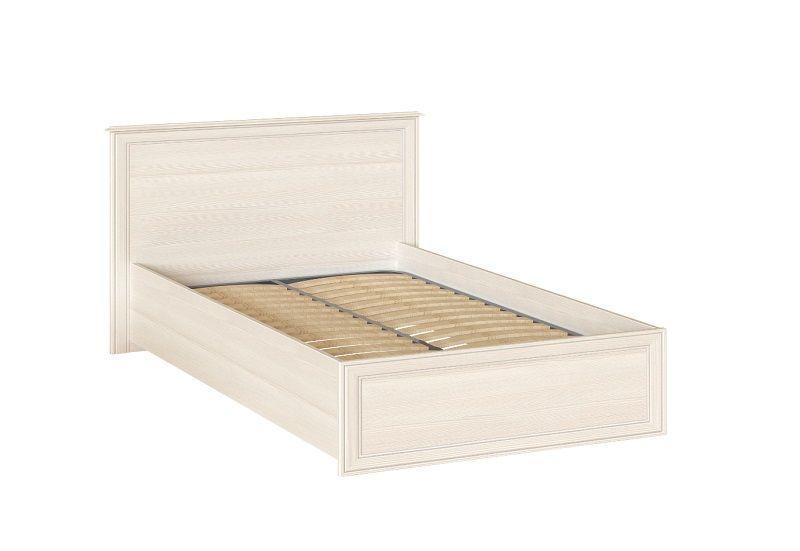 Кровать двойная 1200 мм Венеция 39 с ортопедом, без матраса Бодега светлая