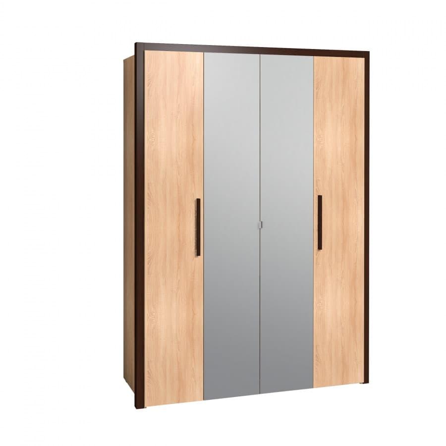 Спальня Баухаус BAUHAUS (комплект 1) - фото Шкаф для одежды и белья Bauhaus 9 с паспарту 51