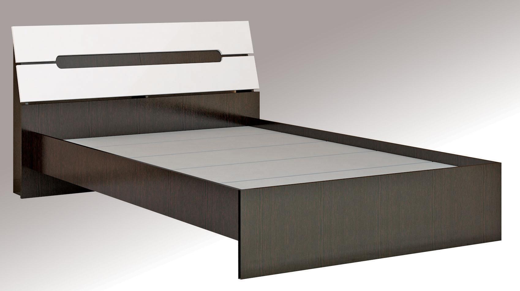 Кровать Гавана 1,6 с основанием ДСП, без матраса Глянец