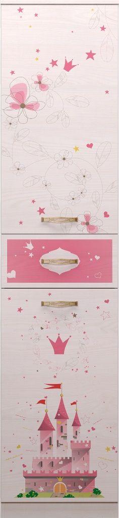 Шкаф-пенал для белья Принцесса 15, левый