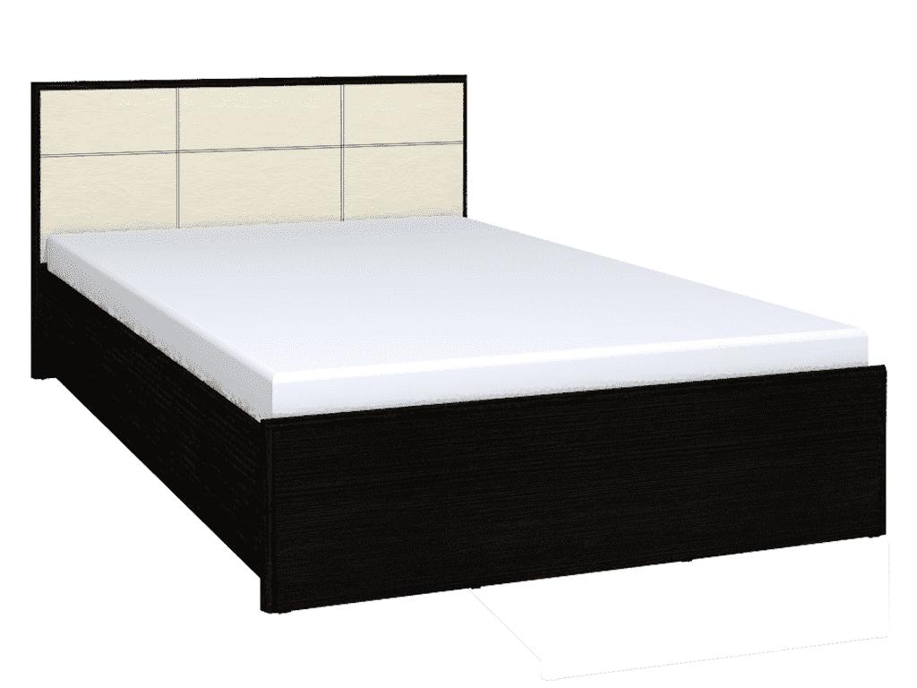 Кровать Амели Люкс 301 (1400) без основания, без матраса, венге