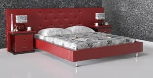 Кровать с мягким изголовьем Карина