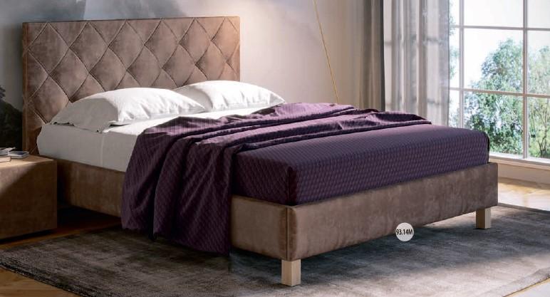 Спальня МК52 (комплект 3) - фото МК 52 модуль 93.14М (кровать латте)