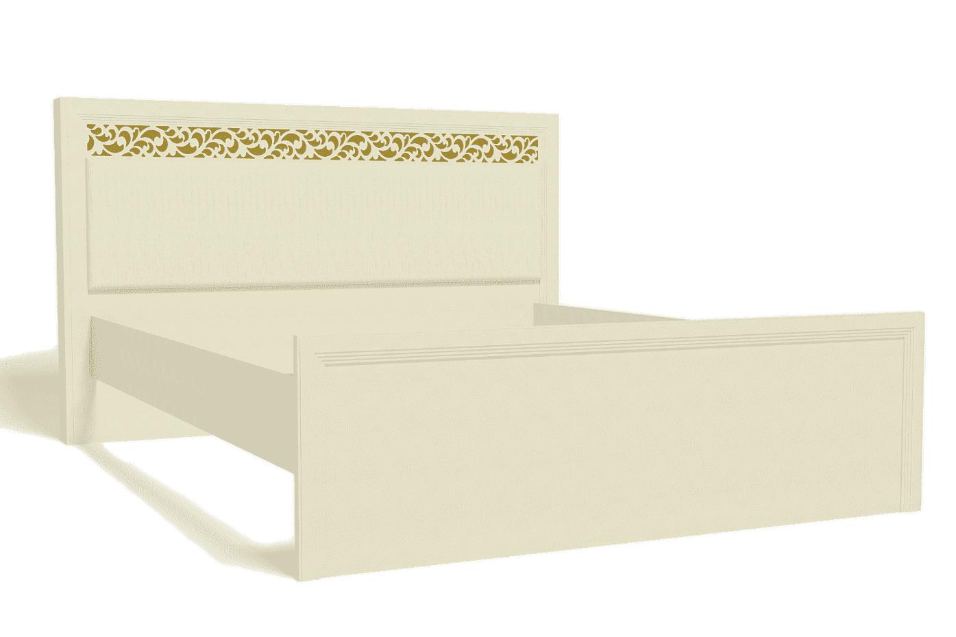 Спальня Ливадия Комплект 3 - фото Кровать 160*200 см без ортопеда, без матраса Ливадия Л8
