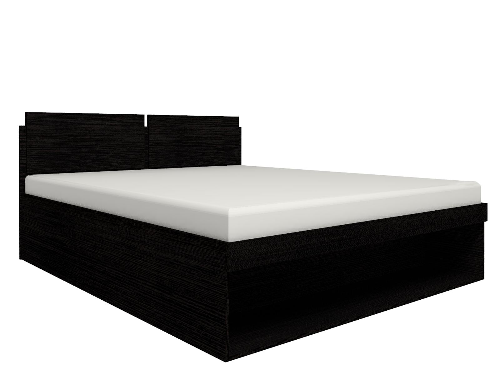 Спальня Hyper (комплект 2) - фото Кровать 1 Hyper 180*200 с подъемным механизмом (Венге монохром)