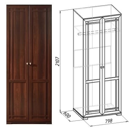 Спальня SHERLOCK Шерлок Комплект 1 - фото Sherlock 12 Шкаф для одежды