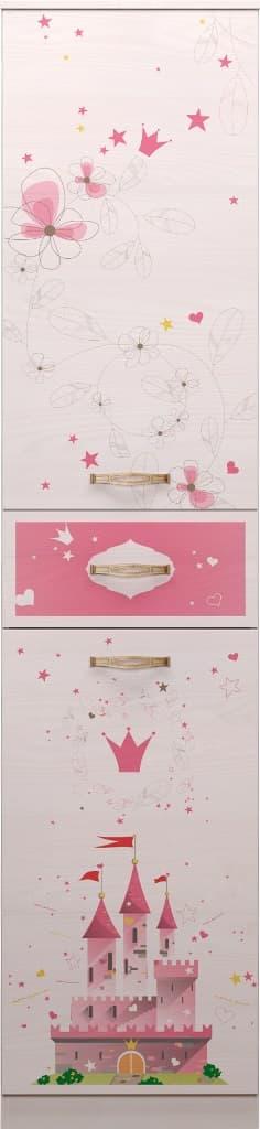 Детская комната Принцесса Комплект 2 - фото 15 Принцесса Шкаф-пенал для белья