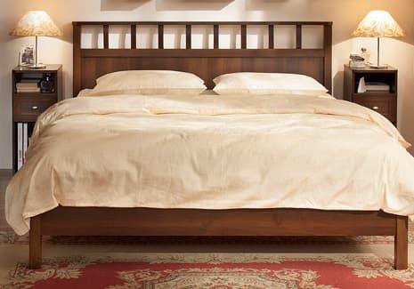 Спальня SHERLOCK Шерлок Комплект 1 - фото Sherlock 48 Кровать-Люкс 140, без основания, без матраса