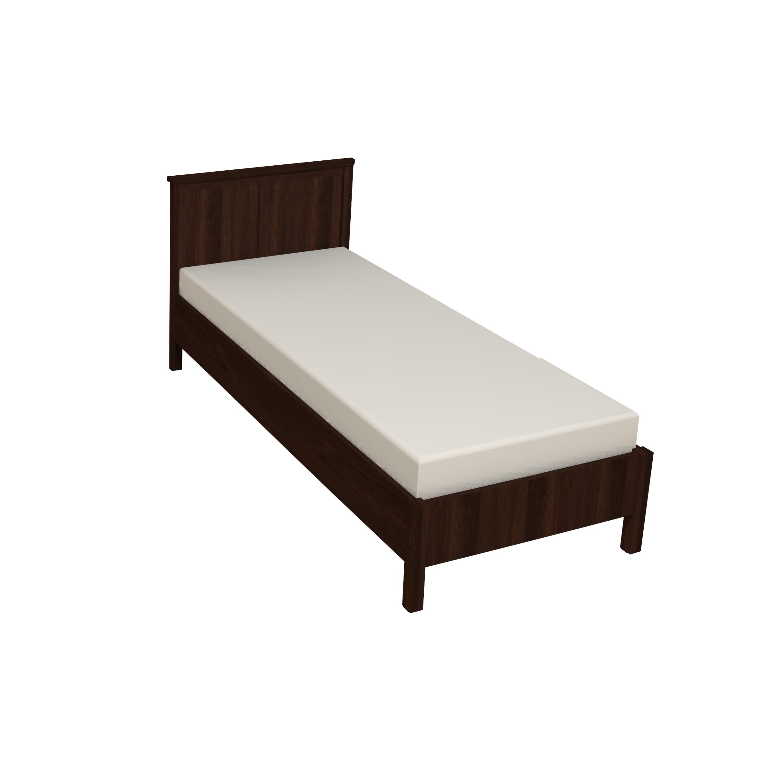 Кровать Sherlock 45 90, без основания, без матраса, орех шоколадный