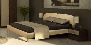 Кровать с мягким изголовьем Беатриса