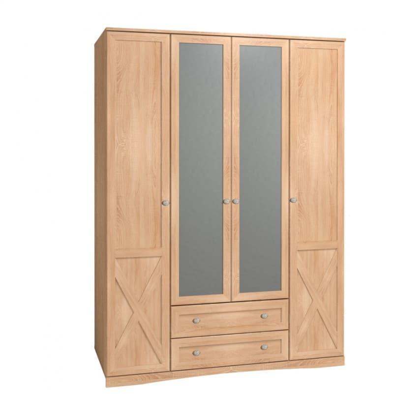 Спальня ADELE (комплект 4) - фото Шкаф для одежды и белья, с цоколем ADELE 9