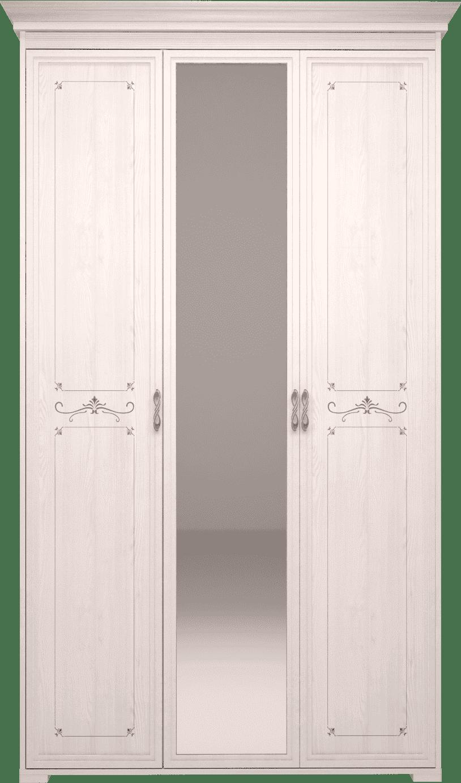 Шкаф для платья и белья 3 х дверный с ЗЕРКАЛОМ Афродита 06 (без карниза)