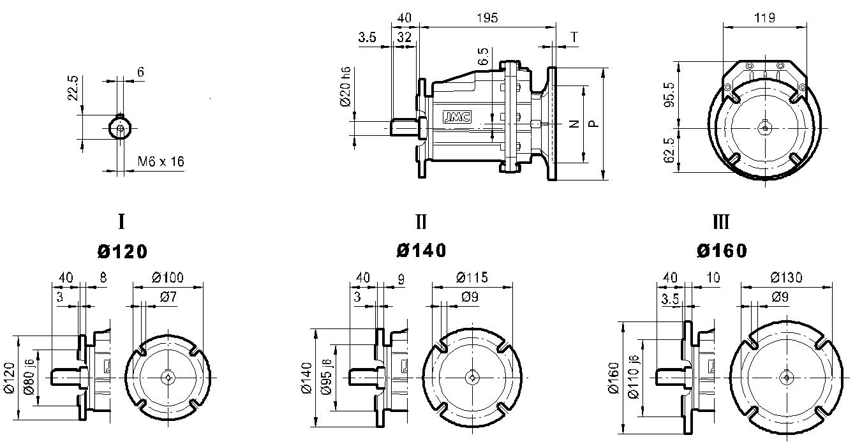 редуктор TRC 01 фланцевый
