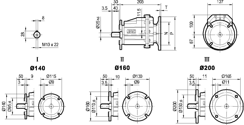 редуктор TRC 02 фланцевый